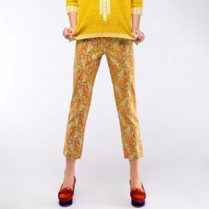 ANTHROPOLOGIE Cartonnier Persimmon Paisley Pant 8